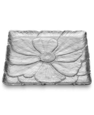 Mikasa Serveware, Botanical Flower Square Platter
