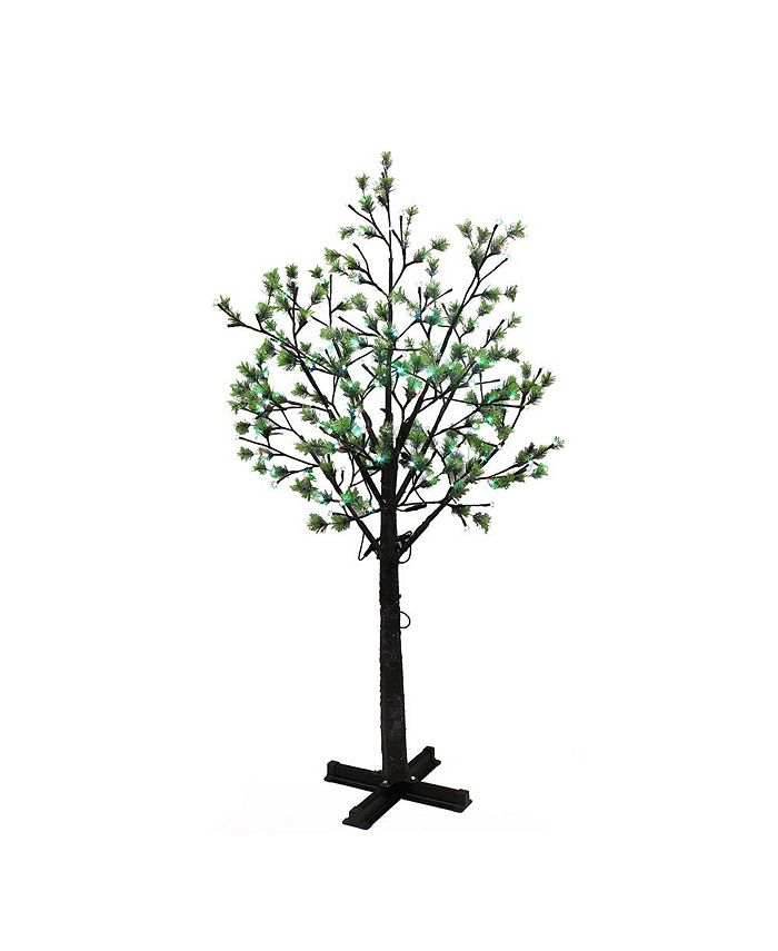 Puleo - 7.5 ft. Artificial Tree with 720 Multi-Color changing LED Lights