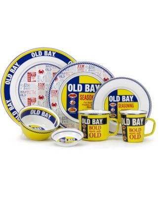 Old Bay Enamelware Collection Salt and Pepper Shakers, Set of 2