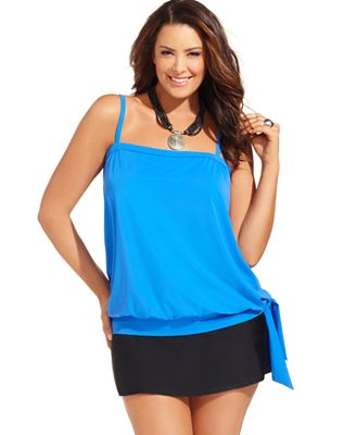 Blouson Plus Size Swimsuit Top 10