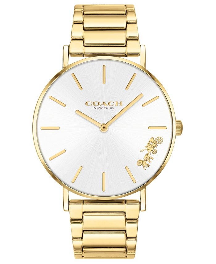 COACH - Women's Perry Gold-Tone Stainless Steel Bracelet Watch 36mm