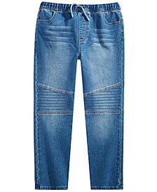 Epic Threads Big Boys Slim Straight Drawstring Waist New Moto Denim Pant