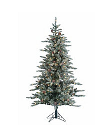 Sterling 6Ft. Lightly Flocked McKinley Pine with 350 clear lights