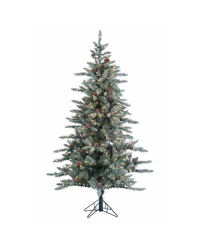 Sterling - 6Ft. Lightly Flocked McKinley Pine with 350 clear lights