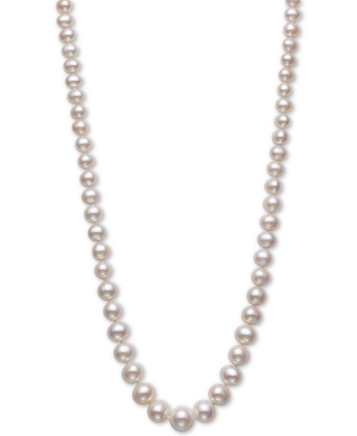 "Belle de Mer - Cultured Freshwater Pearl (5-10mm) Graduated 18"" Strand Necklace in 14k Gold"