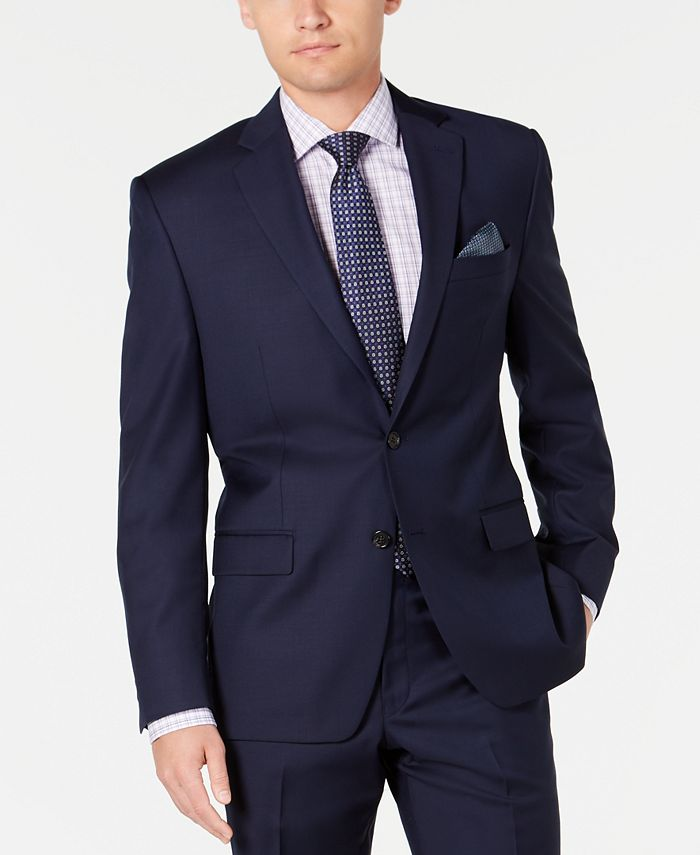 Lauren Ralph Lauren - Men's Slim-Fit UltraFlex Stretch Navy Solid Suit Separate Jacket