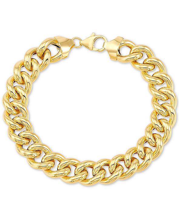 Italian Gold Curb Link Chain Bracelet in 14k Gold