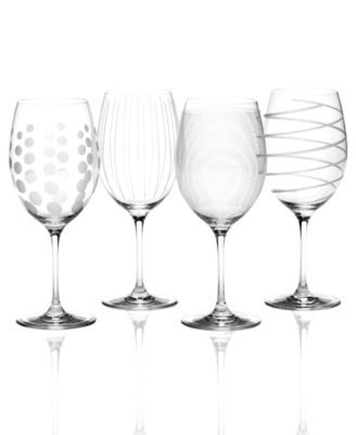 Mikasa Glassware, Set of 4 Cheers Bordeaux Wine Glasses