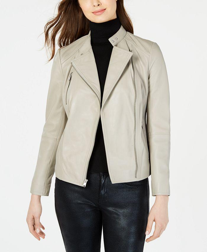 Marc New York - Asymmetrical Leather Moto Jacket