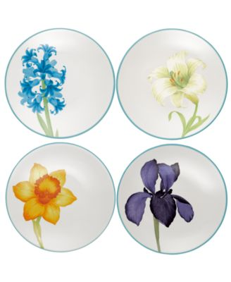 Noritake Dinnerware, Set of 4 Colorwave Turquoise Appetizer Plates