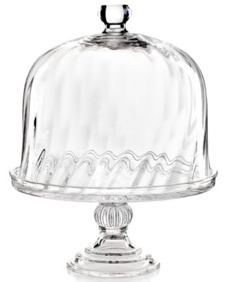 CLOSEOUT! Martha Stewart Collection Serveware, Swirl Cake Stand with Dome
