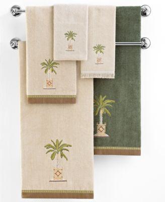 "Avanti ""Banana Palm"" Fingertip Towel, 11x18"""