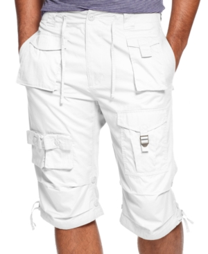 Sean John Shorts Big and Tall Classic Flight Cargo Shorts