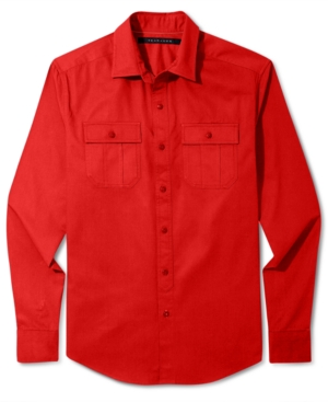 Sean John Shirt Solid Long Sleeve Shirt