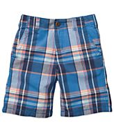 Osh Kosh Kids Shorts, Little Boys Plaid Twill Shorts