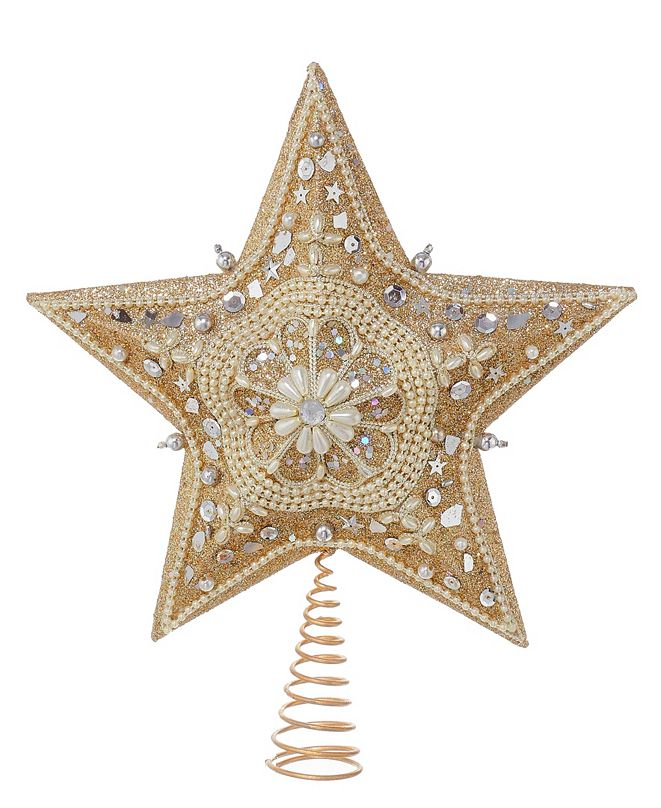 "Kurt Adler 13.5"" Star Treetop with Glitter"