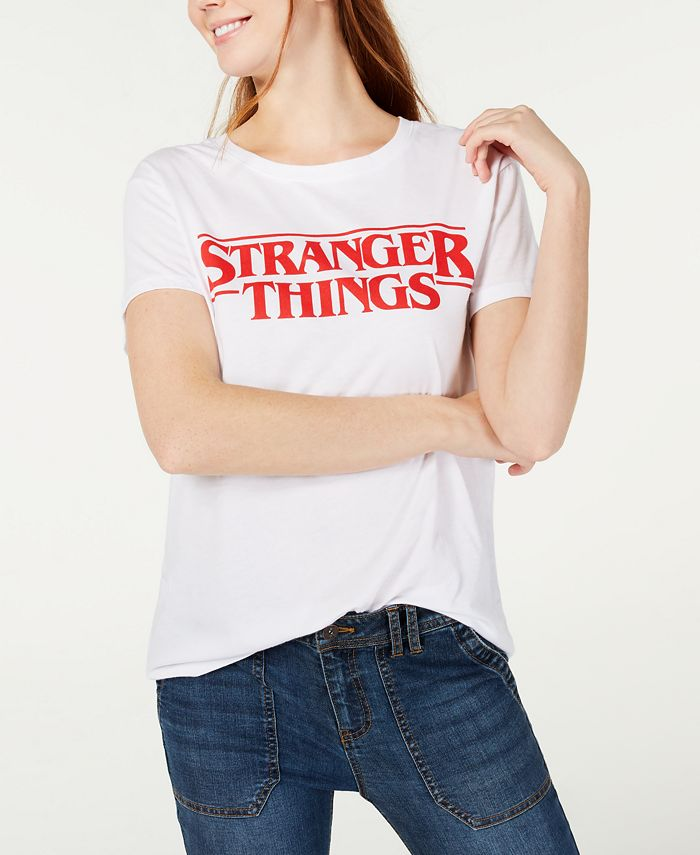 Love Tribe - Juniors' Stranger Things Logo Graphic T-Shirt