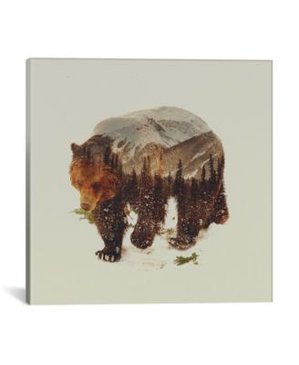 Bear I by Andreas Lie Wrapped Canvas Print - 26