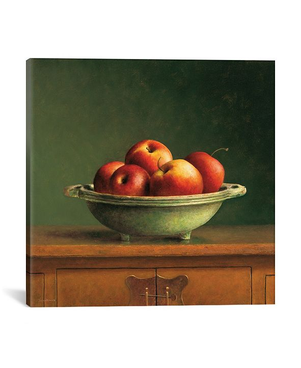 "iCanvas Apples by Jos Van Riswick Wrapped Canvas Print - 37"" x 37"""