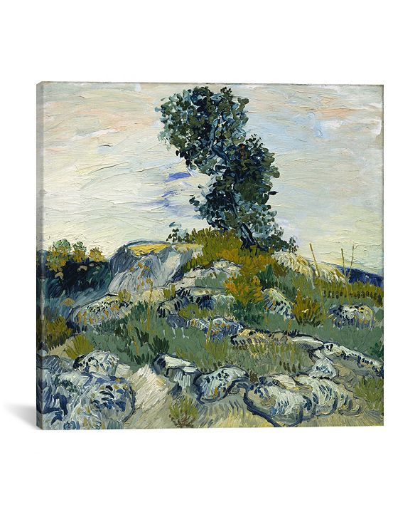 """iCanvas The Rocks by Vincent Van Gogh Wrapped Canvas Print - 37"""" x 37"""""""