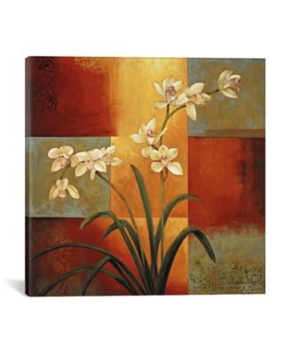 """White Orchid by Jill Deveraux Wrapped Canvas Print - 37"""" x 37"""""""