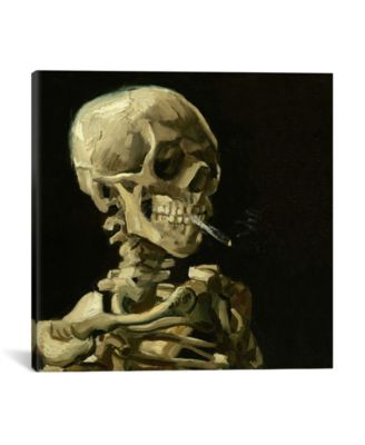 Head Of A Skeleton With A Burning Cigarette by Vincent Van Gogh Wrapped Canvas Print - 18