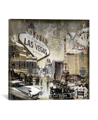 """Las Vegas by Dylan Matthews Wrapped Canvas Print - 37"""" x 37"""""""