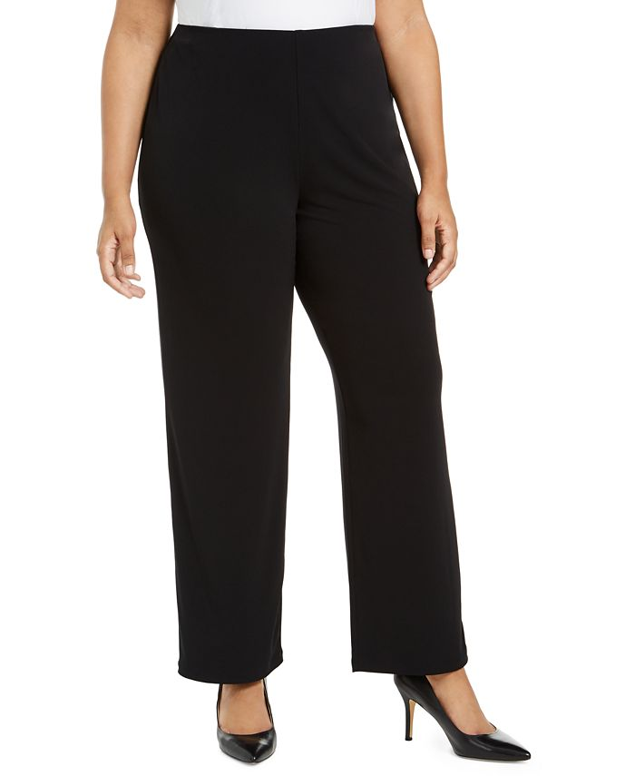 Alfani - Petite Plus Size Wide-Leg Soft Pants