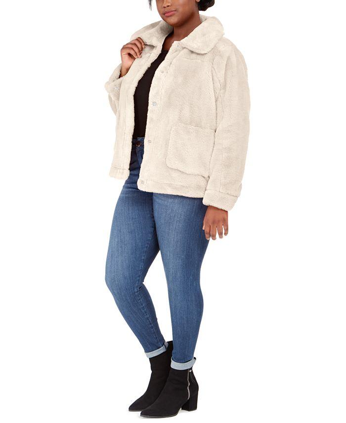 Jou Jou - Juniors' Plus Size Faux-Fur-Jacket