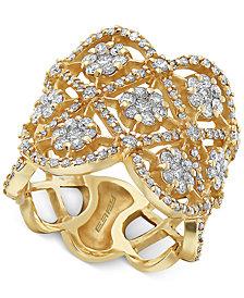 EFFY® Diamond Flower Openwork Statement Ring (1-5/8 ct. t.w.) in 14k Gold