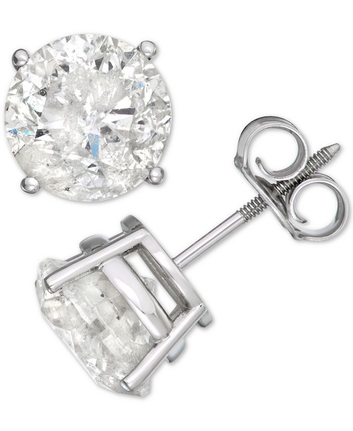Macy's - Diamond Stud Earrings (4 ct. t.w.) in 14k White Gold