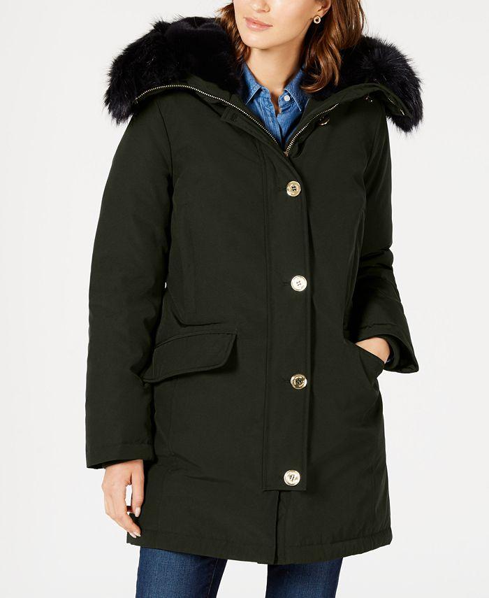 Michael Kors - Faux-Fur Trim Down Parka Coat