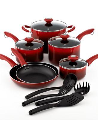 Martha Stewart Collection Nonstick Ombre 14 Piece Cookware Set