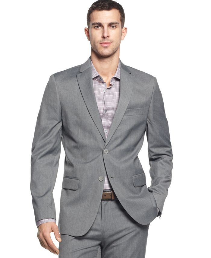 Calvin Klein - Two-Button Greystone Blazer