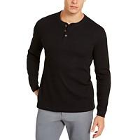 Club Room Mens Thermal Henley Shirt Deals