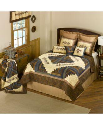 Cabin Raising Pine Cone Cotton Quilt Collection, Accessories