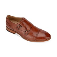 Kenneth Cole Men's Cheer Quarter-Brogue Monk Strap Loafers