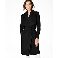 Deals on Cole Haan Belted Wrap Coat
