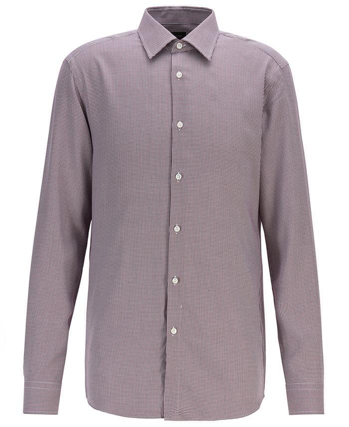 Hugo Boss - Men's T-Carl Slim-Fit Micro-Check Shirt