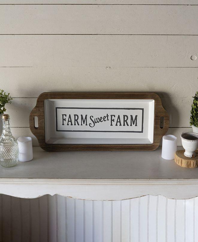 "VIP Home & Garden VIP Home International Wood and Metal ""Farm"" Sign"