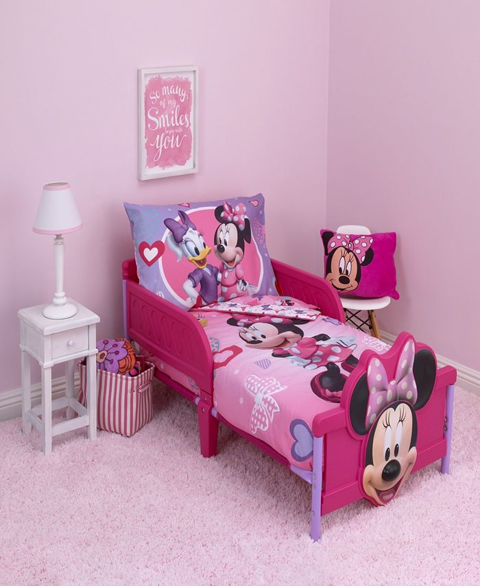 Disney Minnie Mouse 4 Piece Toddler Bedding Set Reviews Bed In A Bag Bed Bath Macy S