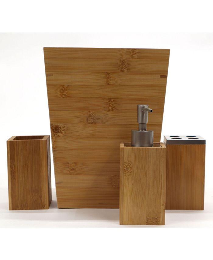 Redmon Since 1883 Bamboo 4 Piece Bathroom Accessory Set Reviews Accessories Bed Bath Macy S