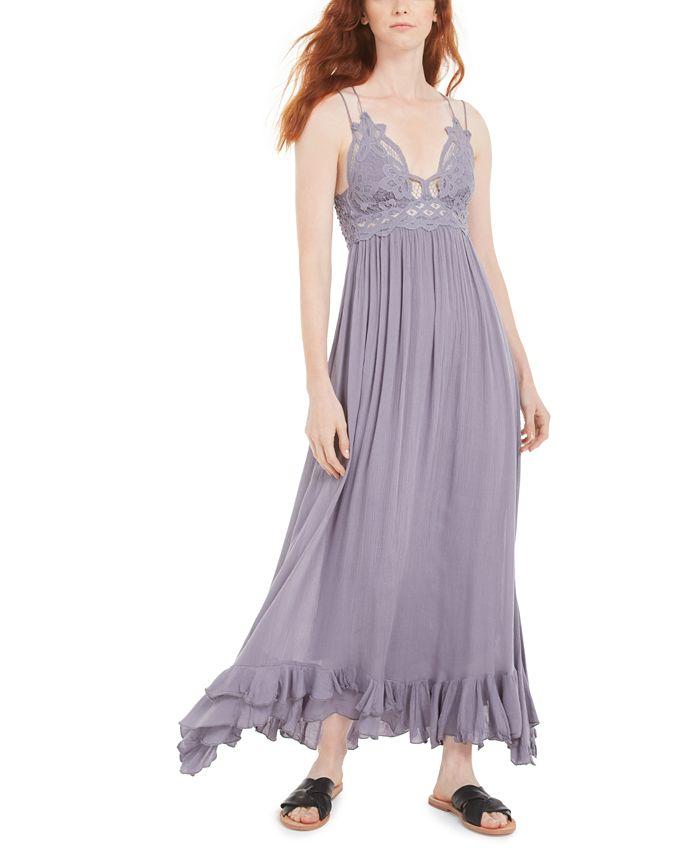 Free People - Adella Lace-Trim Maxi Dress
