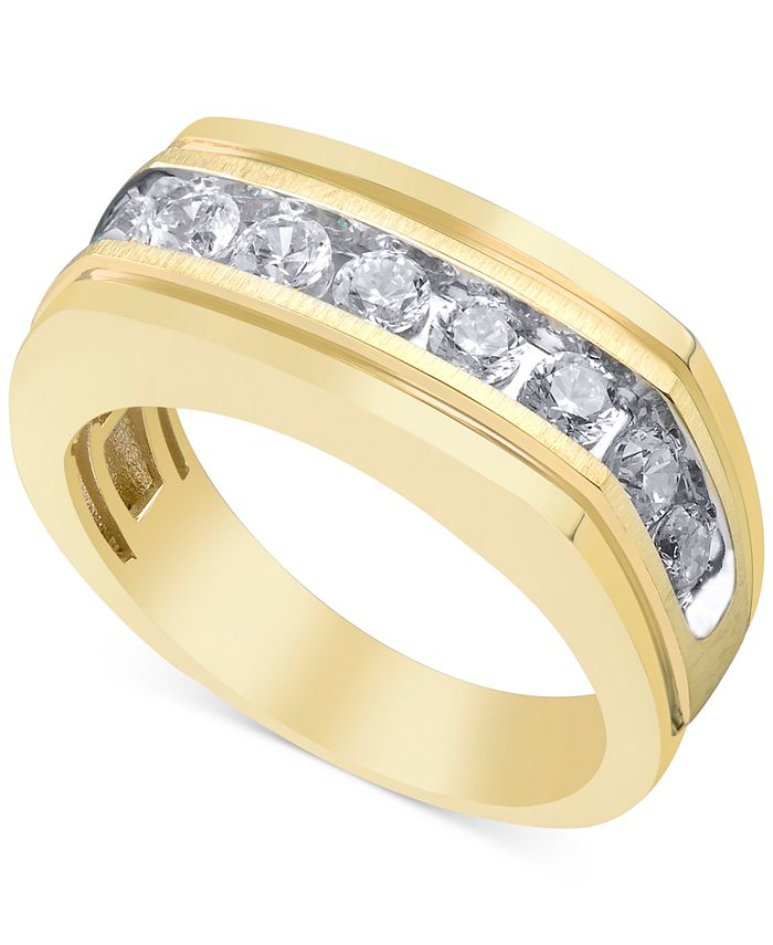 Macy's - Men's Diamond Ring (1 ct. t.w.) in 10k Gold