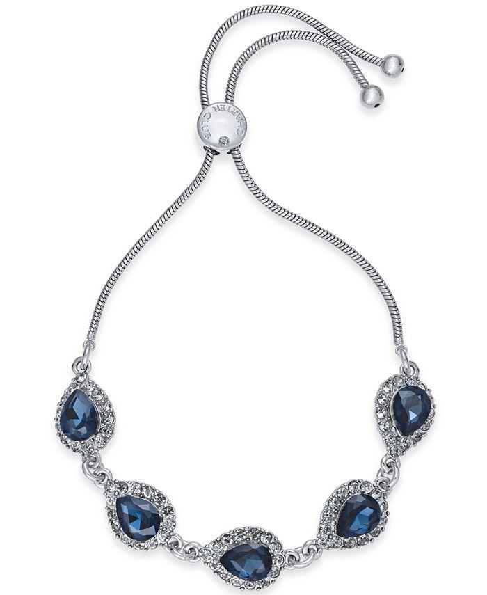Charter Club - Crystal & Stone Slider Bracelet