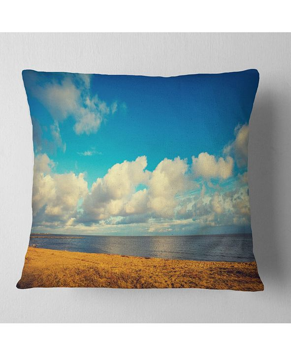 Design Art Designart Deserted Brown Sea Coastline Landscape Printed Throw Pillow 16 X 16 Reviews Decorative Throw Pillows Bed Bath Macy S