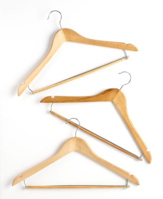 Honey Can Do Suit Hangers, 6 Piece Set Contoured with Locking Bars