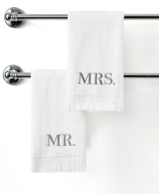 "Avanti Bath Towels, Mr. & Mrs. 11"" x 18"" Fingertip Towel"
