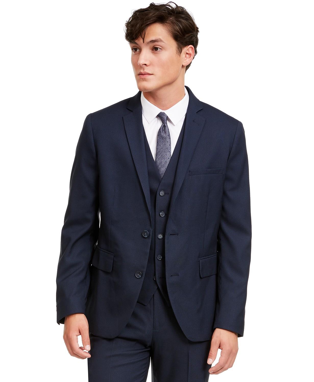 INC Men's Slim-Fit Micro Check Suit Jacket