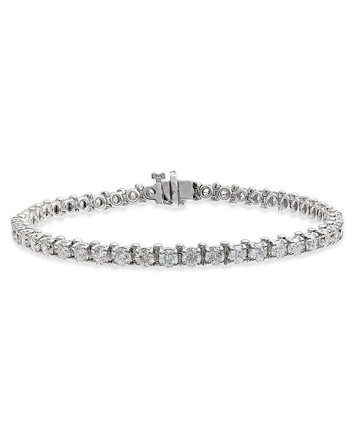 Macy's - Certified Diamond Tennis Bracelet (6 ct. t.w.) in 14k White Gold